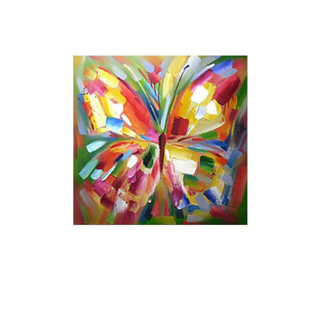OME&MEI Pintado Al A Mano Pintura Al Pintado Óleo Color Mariposa Volando Pintura Habitación De Los Niños Decoración del Dormitorio-40X40Cm 04f004
