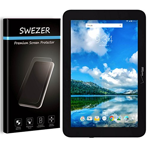 [2-PACK] For Verizon Ellipsis 10 - SWEZER Tempered Glass Screen Protector [LifeTime Replacement], 9H Anti-Scratch, 2.5D Anti-Chip Edge, Shatterproof