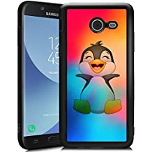 Penguin Samsung Galaxy J5 2017 Case, Unique Art Layer Design, Mixed Case with TPU Back and Shockproof Silicone, Samsung Galaxy J5 2017 IMD Technology Case Makes Your Phone Different.
