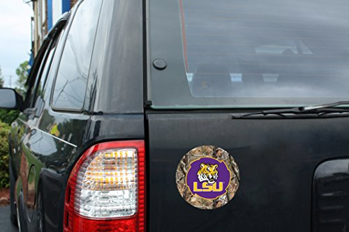 LSU TIGERS REALTREE CAMO MAGNET-LSU TIGERS REALTREE CAR MAGNET-10 INCHES