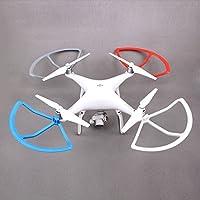 Flycoo 4 Piezas Protectores de Hélices para dji Phantom 4 4 Pro 4PRO + Hélices Protector de Cuchillas Drone Protección Anticolisión (Blanco)