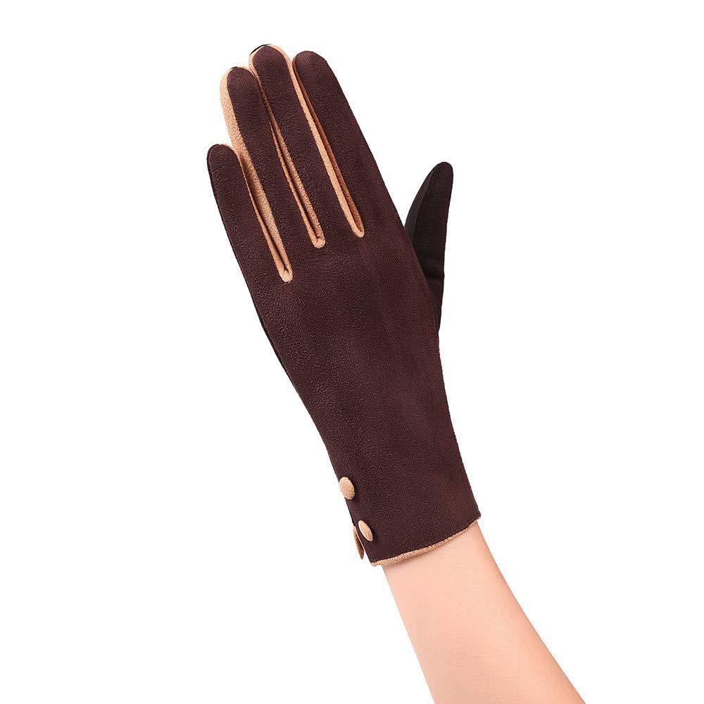 BingYELH Women Winter Warm Gloves Touchscreen Windproof Outdoor Running Skiing Driving Thermal Gloves