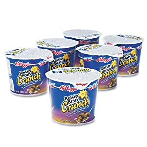 Cereal-in-a-Cup,Super Size,2.8 oz,6/PK,Raisin Bran Crunch