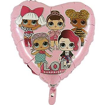 Bebé Rosa Dotty LOL Surprise Girls Balón de Aluminio: Amazon ...