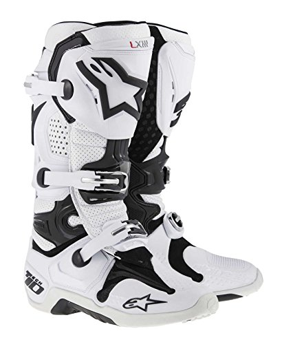 Alpinestars Tech 10 Men's Dirt Bike Motorcycle Boots - White