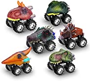 Toys for 3-9 Year Old Boys, WIKi Dinosaur Pull Back Cars for Boys Age 3-9 Dinosaurs Toys for 3-9 Year Old Girl