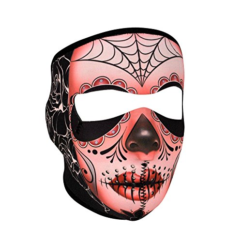 Zanheadgear WNFM082 Neoprene Full Face Mask, Sugar Skull