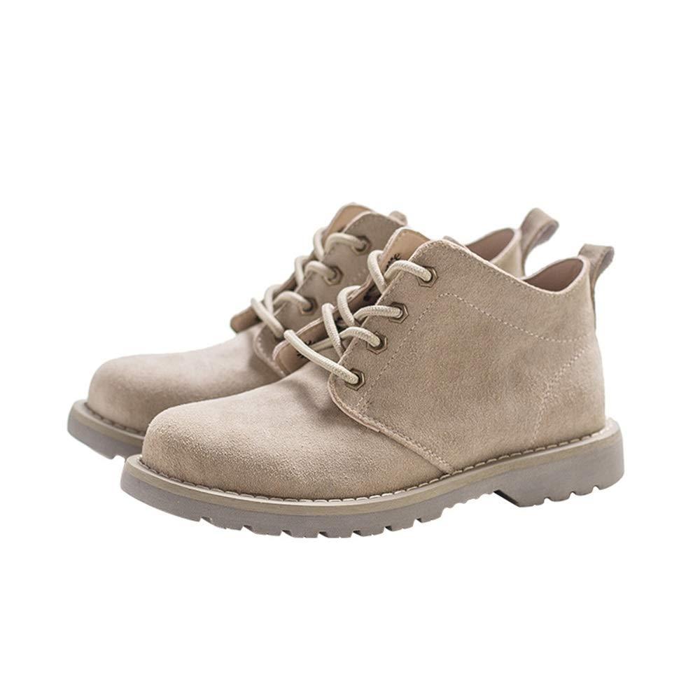 ZHRUI Herren Stiefeletten Soft Sohle Durable Non Slip Casual Klassische Mode Stiefel (Farbe   Braun, Größe   EU 39)