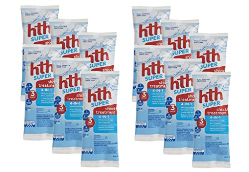 HTH 52005 Super Shock Treatment, 1 lb Bag (12) (Shock Pool Hth)