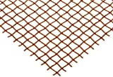 Copper Woven Mesh Sheet, Unpolished (Mill) Finish, ASTM E2016-06, 12'' Width, 24'' Length, 0.0045'' Wire Diameter, 30% Open Area