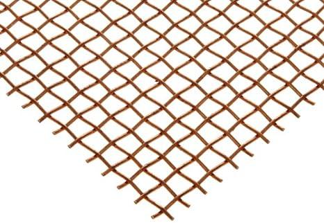 Amazon.com: Copper Woven Mesh Sheet, Unpolished (Mill) Finish ...