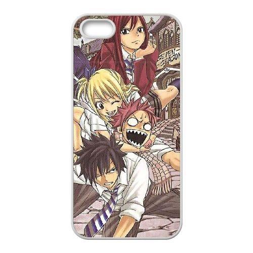 Fairy Tail 045 coque iPhone 5 5S Housse Blanc téléphone portable couverture de cas coque EOKXLLNCD13829