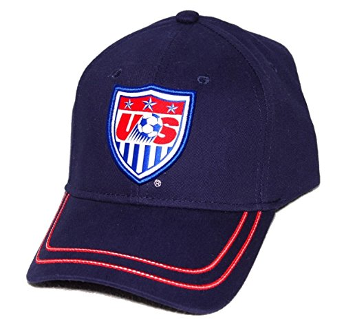 (Rhinox Mens US National Soccer Team USA Baseball Cap Navy Blue)
