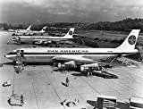 Pan American World Airways, Boeing 707's awaiting delivery, 1958, 1950's , 11''x14'' Photo Print