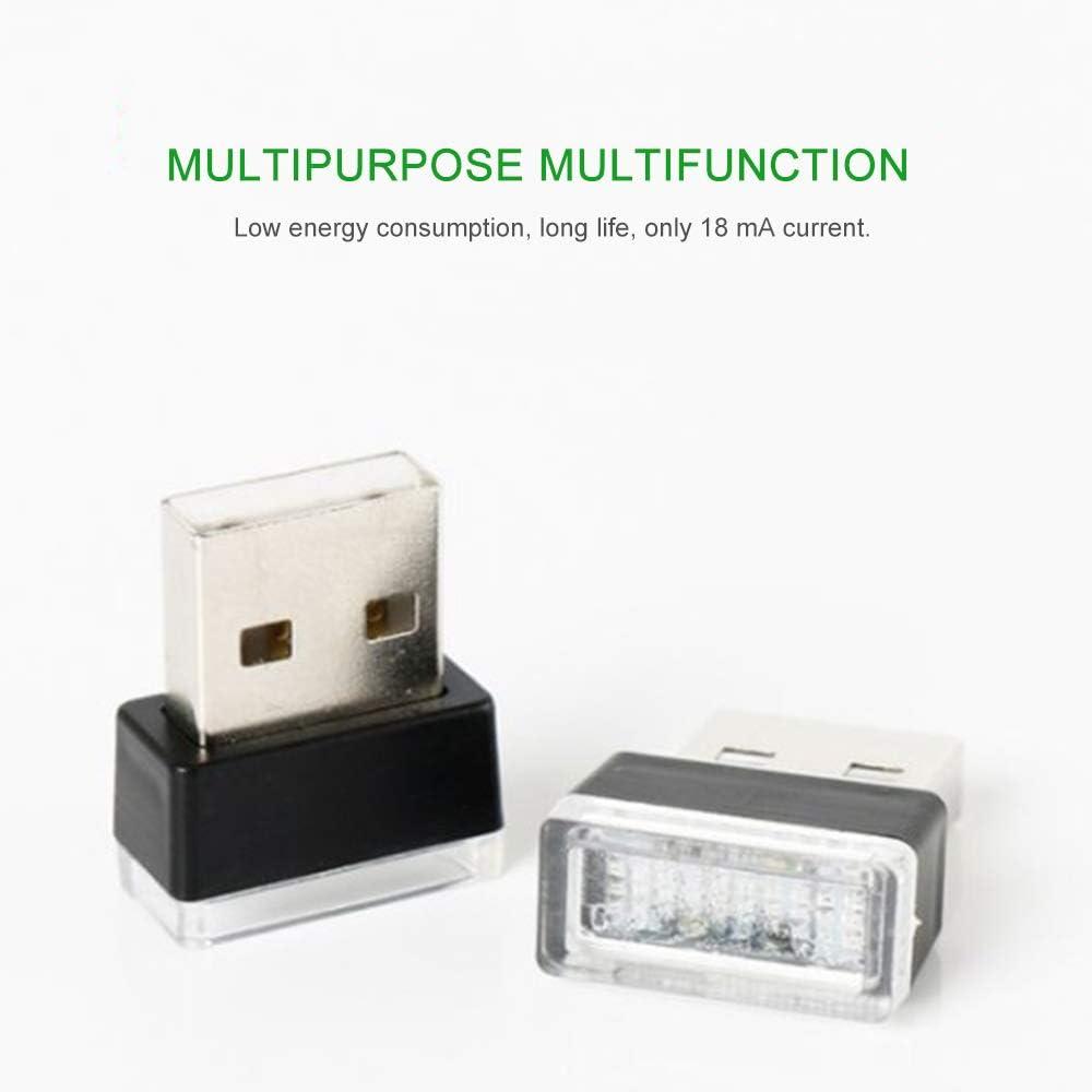 con luce LED al neon e USB Luce d/'atmosfera multicolore per interni dell/'auto JialongDianzi