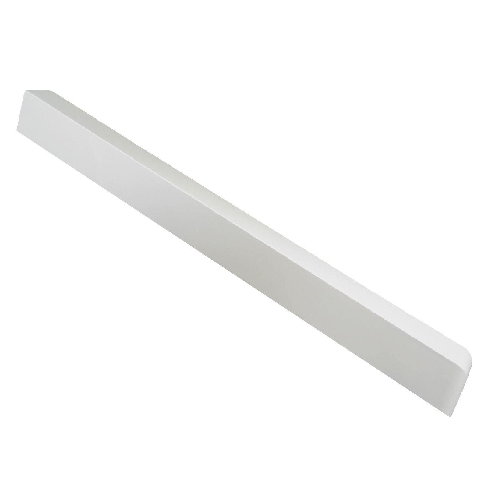 Large Corner Joint Upvc Plastic Fascia Board White 500mm Round Edge by Home Smart