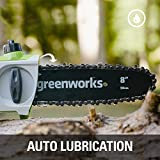 Greenworks 40V 8-inch Cordless Pole Saw with Hedge