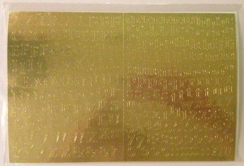 Mini ABC/123 Stickers: Gold Metallic ()