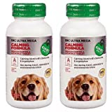 GNC Pets Ultra Mega Calming Formula for All Dogs -- 2 Bottles each of 90 Tablets