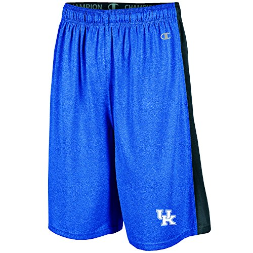NCAA Kentucky Wildcats Men's Heather Jersey Color Blocked Training Shorts, X-Large, Blue Heather
