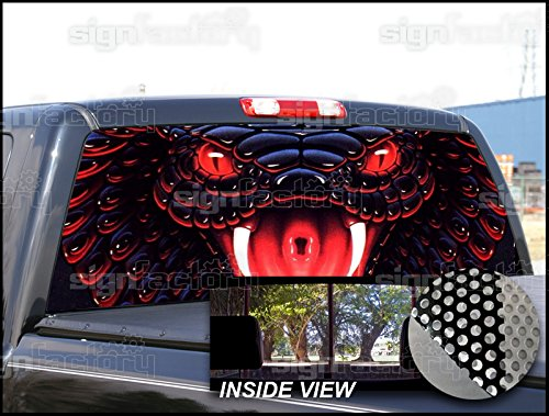Amazon.com: P210 King Cobra Snake Tint Rear Window Decal ...