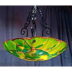 StriniArtGlass Ceiling Lamp Dome jungle Green