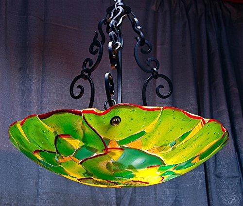 StriniArtGlass Ceiling Lamp Dome jungle Green