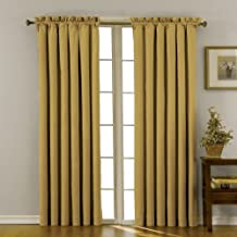Eclipse Canova 42-Inch by 63-Inch Thermaback Blackout Panel, Gold