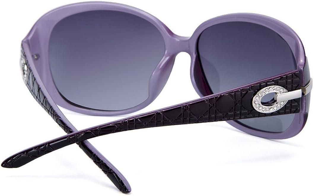 OYMI Womens Latest Style Oversized Polarised Sunglasses 100/% UV Protection Set with Rhinestones
