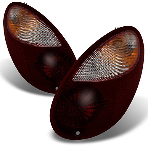 - For Chrysler PT Cruiser Dark Red Tail Lights Brake Lamps Driver Left + Passenger Right Side Replacement