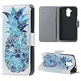 Liquid Z410 Case, Candy House Acer Liquid Z410 Case Blue Pineapple Pattern Horizontal Wallet Case Magnetic Closure Flip Cover