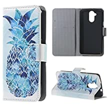 Liquid Z410 Case, Candy House Acer Liquid Z410 Case Blue Pineapple Pattern Horizontal Wallet Case Magnetic Closure Flip Cover