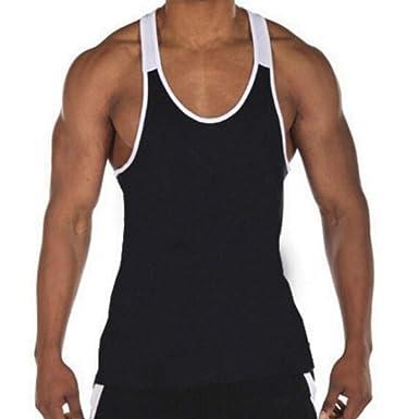 551b2375663fe Amazon.com  Dainzuy Men Fashion Splicing Sports Vest