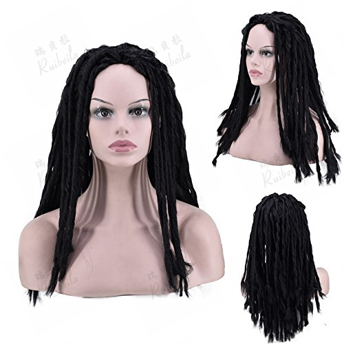Long haired dreadlocks wig hair rock reggae Hip hop whole wig hair pigtail headgear -