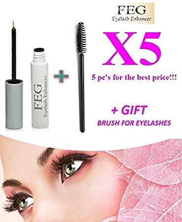 6ee99f91ee0 5 X FEG Eyelash Enhancer Growth Liquid/Serum. 100% Original with Anti-