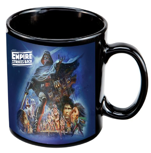 Empire Mug - Vandor 99061 Star Wars Empire Strikes Back 12 oz Ceramic Mug, Multicolor