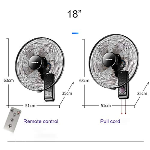 (Colture 16-Inch Digital Wall Mount Oscillating Fan with Remote and Built-in Timer, High Velocity, Heavy Duty Metal Fan for Industrial, Commercial, Residential, and Greenhouse Use - Black 1 Pack)