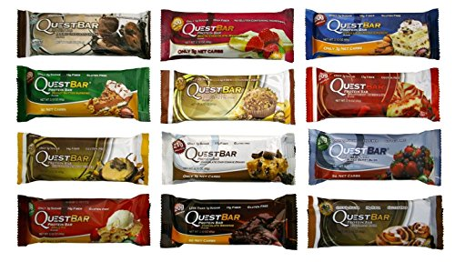 Quest Nutrition Bar Variety Bundle, 12 piece (1 of Each) Carb Control 12 Bars