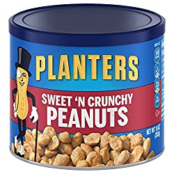 Planters Peanuts, Sweet N Crunchy, 6 Count, 60 Ounce