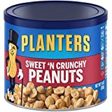 Planters Flavored Peanuts, Sweet & Crunchy, 10 Ounce Canister (Pack of 6)