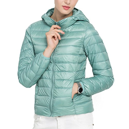 Slim Ultra Hood Jacket With Coat mujer's Lady's Azul Down Winter Light Casual Zhhlaixing Fashion ZX0wn