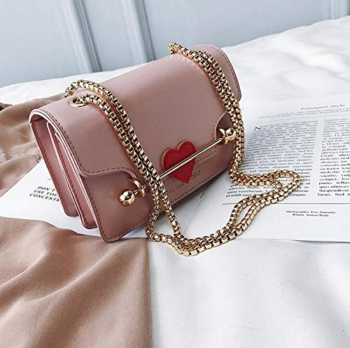 DJBMENG Luxus Marke Square Bag 2019 Mode Neue Hohe Qualität Pu-Leder Damen Designer Handtasche Nettes Mädchen Kette Schulter Umhängetasche B07QPK66WK Damenhandtaschen Fein wild