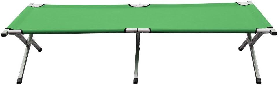 Bature Folding Bed Camping Single Leisure Folding Bed Indoor Outdoor Aluminium 6-leg Travel Camping Bed