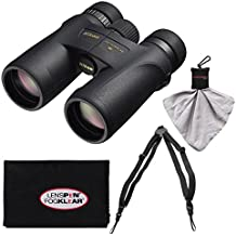 Nikon Monarch 7 8x42 ED ATB Waterproof/Fogproof Binoculars with Case + Easy Carry Harness + Cleaning Cloth