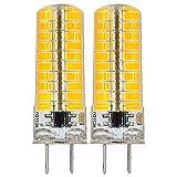 120v ac 6500k - REELCO 2-Pack Mini G8 T4 Base Bi-pin LED 6Watt Dimmable LED Light Bulb corn light AC 110V-120V Cool white 6500K Equivalent 30W-35W Halogen Bulb