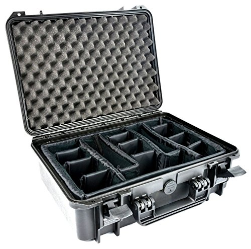Elephant Elite EL1606p Waterproof Case With Padded Dividers for Action, Mirrorless or D-SLR Camera and video Equipment.