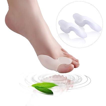 Juego de 1 almohadillas para juanetes y separador de dedos - 1 par de almohadillas de gel ...