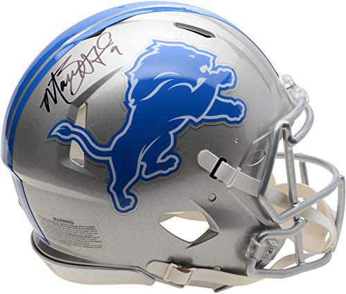 (Matthew Stafford Detroit Lions Autographed Riddell Speed Authentic Pro-Line Helmet - Fanatics Authentic Certified)