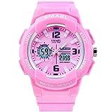 KXAITO Ladies Waterproof Rose Gold White Women Watch Quartz Watch Bracelet Sports Fashion Girls Watches (Pink)