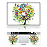 iCasso Colorful Tree Protective Full-cover Vinyl Art Skin Decal Sticker Cover for Apple Macbook Pro 13 Inch/13.3-Inch